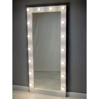 Белое гримерное зеркало с подсветкой 180 на 80 см